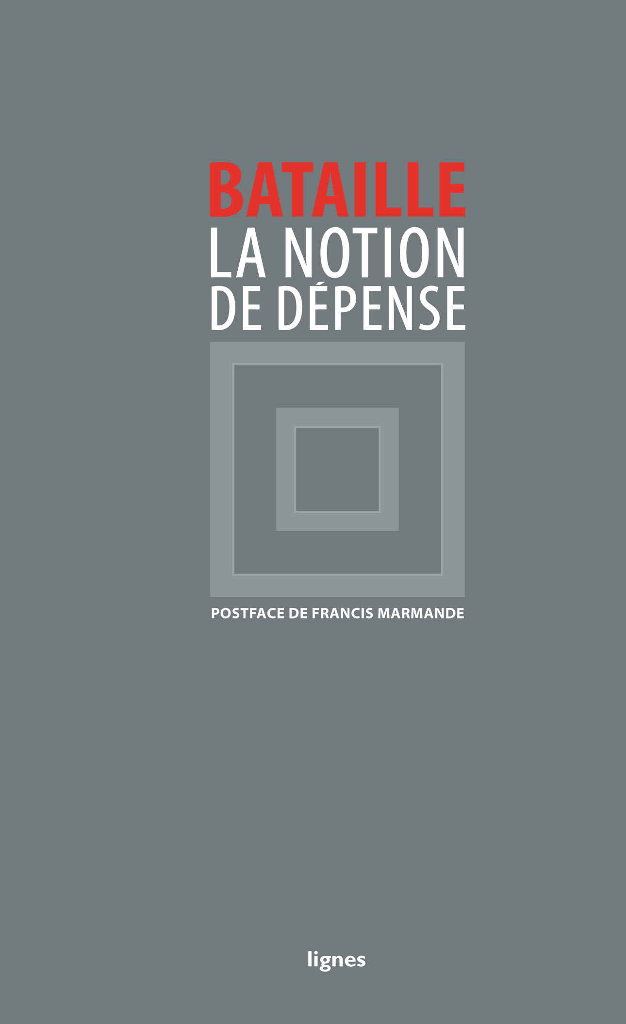 couverture de LA NOTION DE DÉPENSE