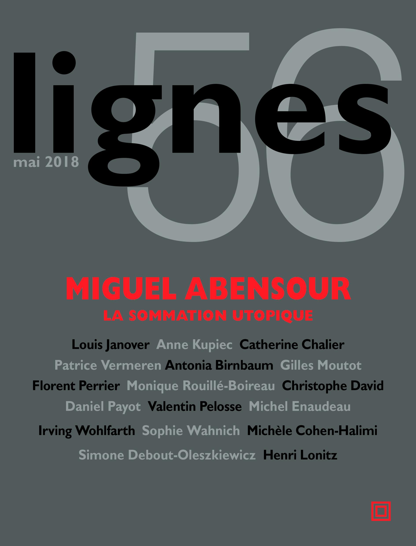 couverture de MIGUEL ABENSOUR | La sommation utopique