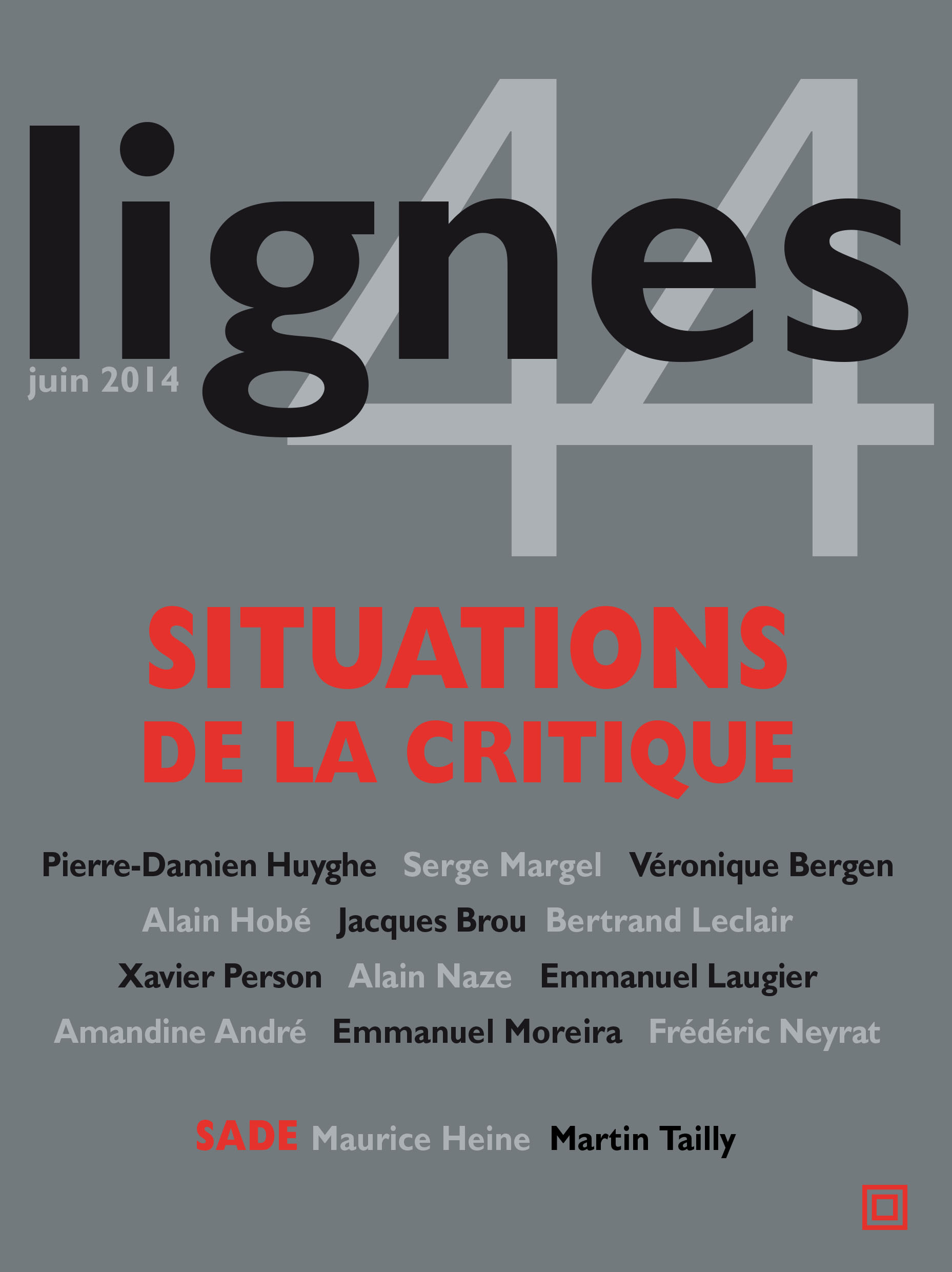 couverture de SITUATIONS DE LA CRITIQUE